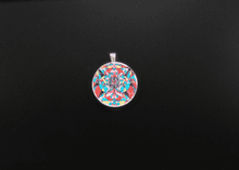 Load image into Gallery viewer, Blue Ray Self Love Grid Pendant