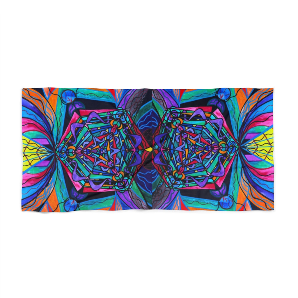 Pleiadian Coherence Lightwork Model - Beach Towel