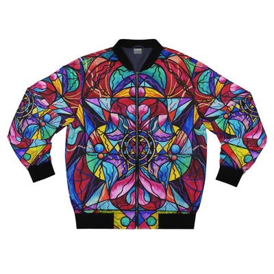 Blue Ray Self Love Grid - Bomber Jacket