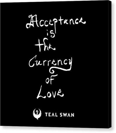 Acceptance Quote - Canvas Print
