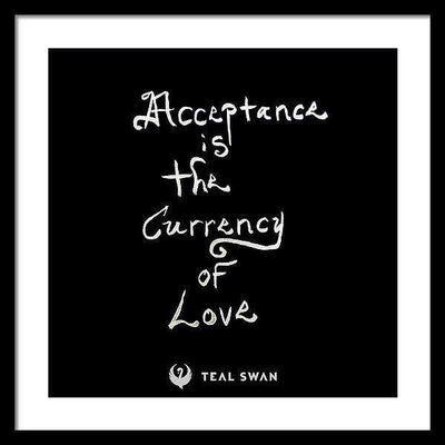 Acceptance Quote - Framed Print