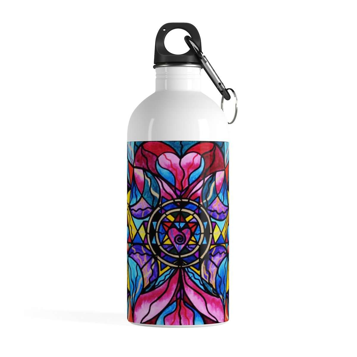 Blue Ray Self Love Grid - Stainless Steel Water Bottle
