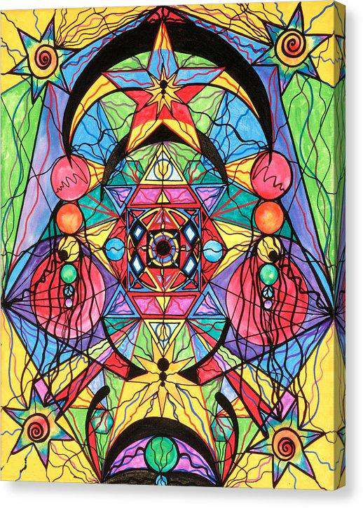Arcturian Ascension Grid - Canvas Print