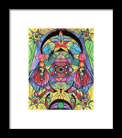 Arcturian Ascension Grid - Framed Print