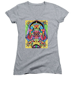 Arcturian Ascension Grid - Women's V-Neck