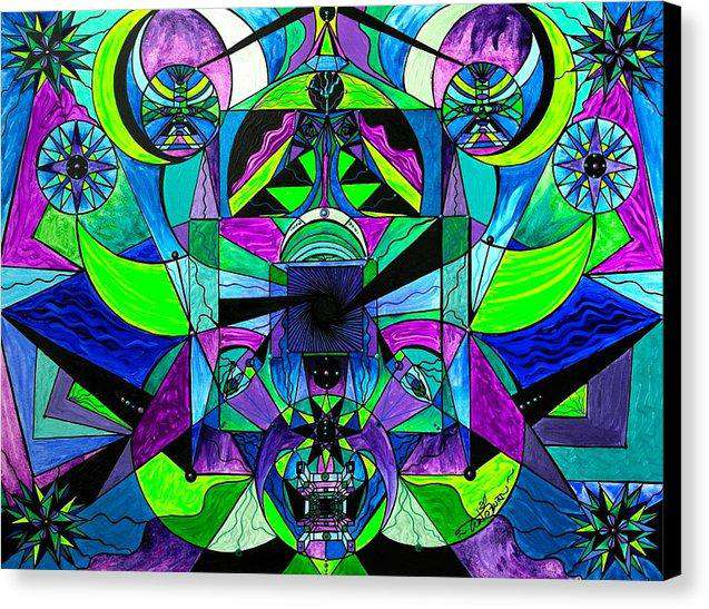 Arcturian Astral Travel Grid  - Canvas Print