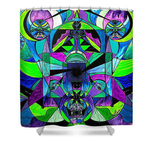 Arcturian Astral Travel Grid  - Shower Curtain