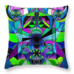 Arcturian Astral Travel Grid  - Throw Pillow