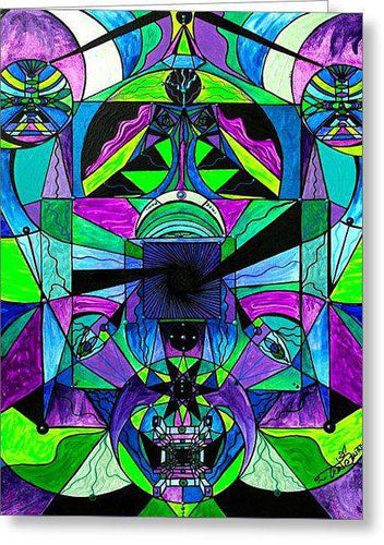 Arcturian Astral Travel Grid  - Greeting Card