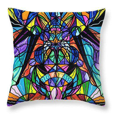 Arcturian Awakening Grid - Throw Pillow