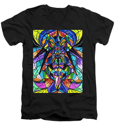 Arcturian Awakening Grid - Men's V-Neck T-Shirt