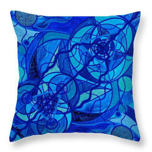 Arcturian Calming Grid - Throw Pillow