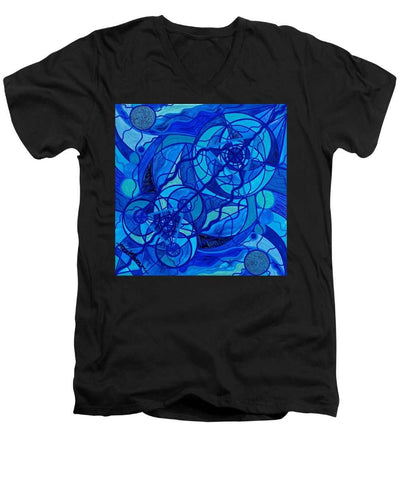 Arcturian Calming Grid - Men's V-Neck T-Shirt