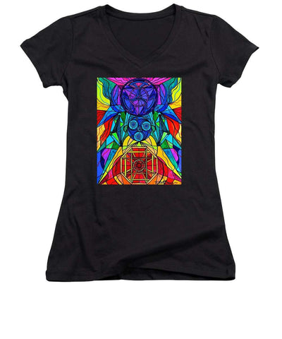 Arcturian Conjunction Grid - Women's V-Neck