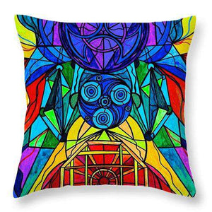 Arcturian Conjunction Grid - Throw Pillow