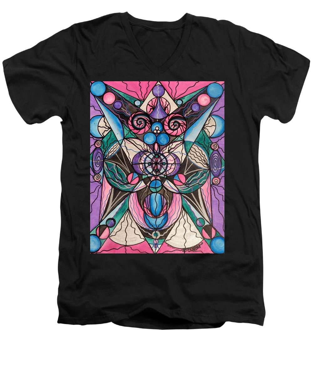 Arcturian Healing Lattice  - Men's V-Neck T-Shirt
