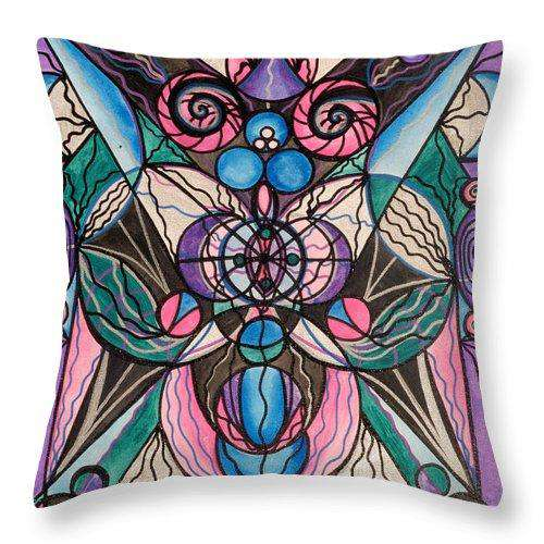 Arcturian Healing Lattice  - Throw Pillow