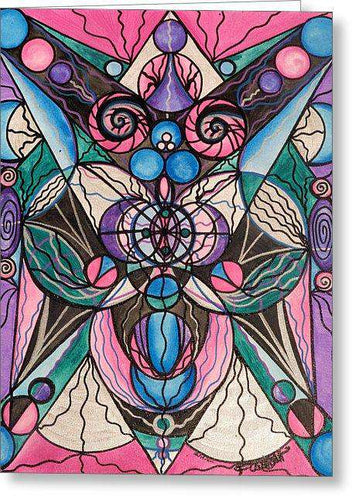 Arcturian Healing Lattice  - Greeting Card