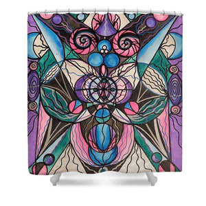 Arcturian Healing Lattice  - Shower Curtain