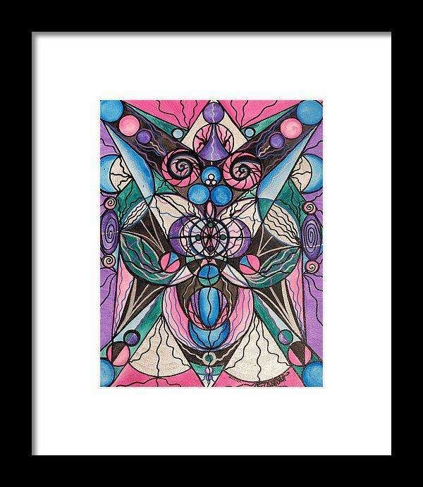 Arcturian Healing Lattice  - Framed Print