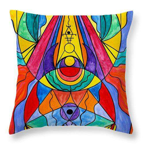 Arcturian Insight Grid  - Throw Pillow