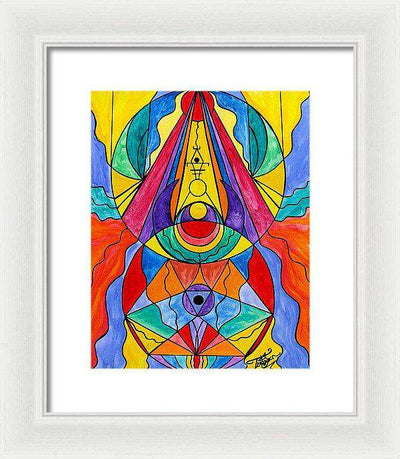 Arcturian Insight Grid  - Framed Print