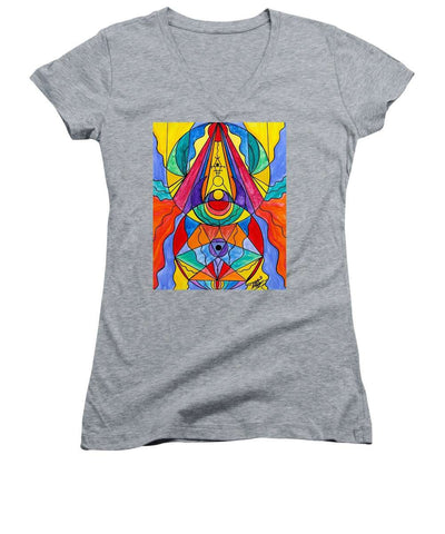 Arcturian Insight Grid  - Women's V-Neck