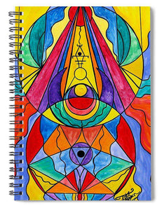 Arcturian Insight Grid  - Spiral Notebook