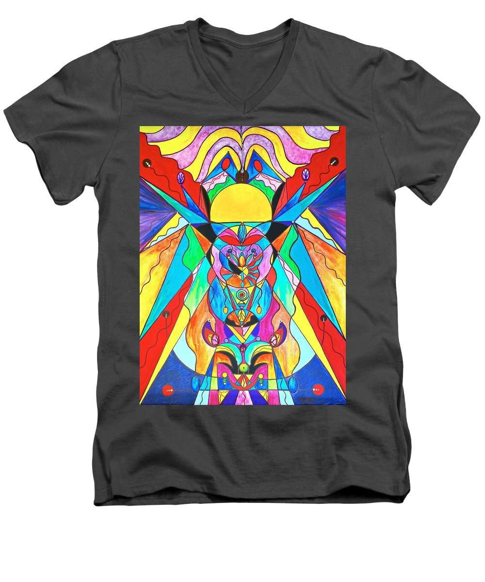 Arcturian Metamorphosis Grid  - Men's V-Neck T-Shirt