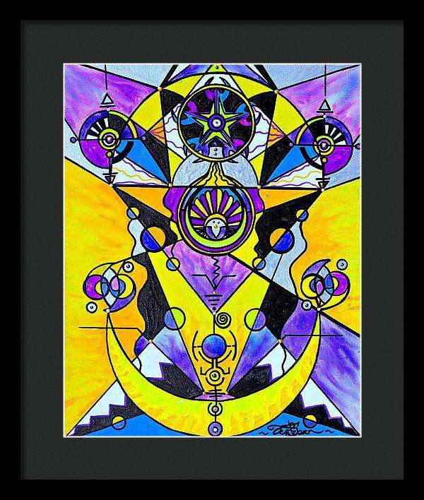 Arcturian Personal Truth Grid - Framed Print