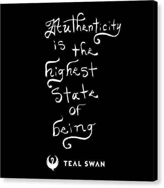 Authenticity Is Quote - Canvas Print