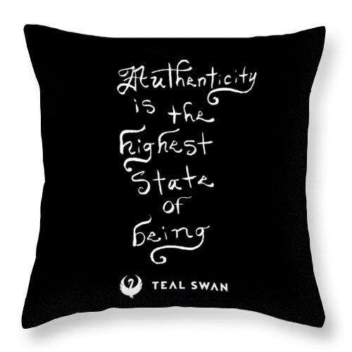Authenticity Is Quote - Throw Pillow