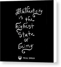 Load image into Gallery viewer, Authenticity Quote - Canvas Print