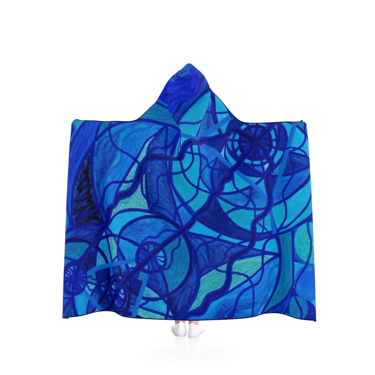 Arcturian Calming Grid - Hooded Blanket