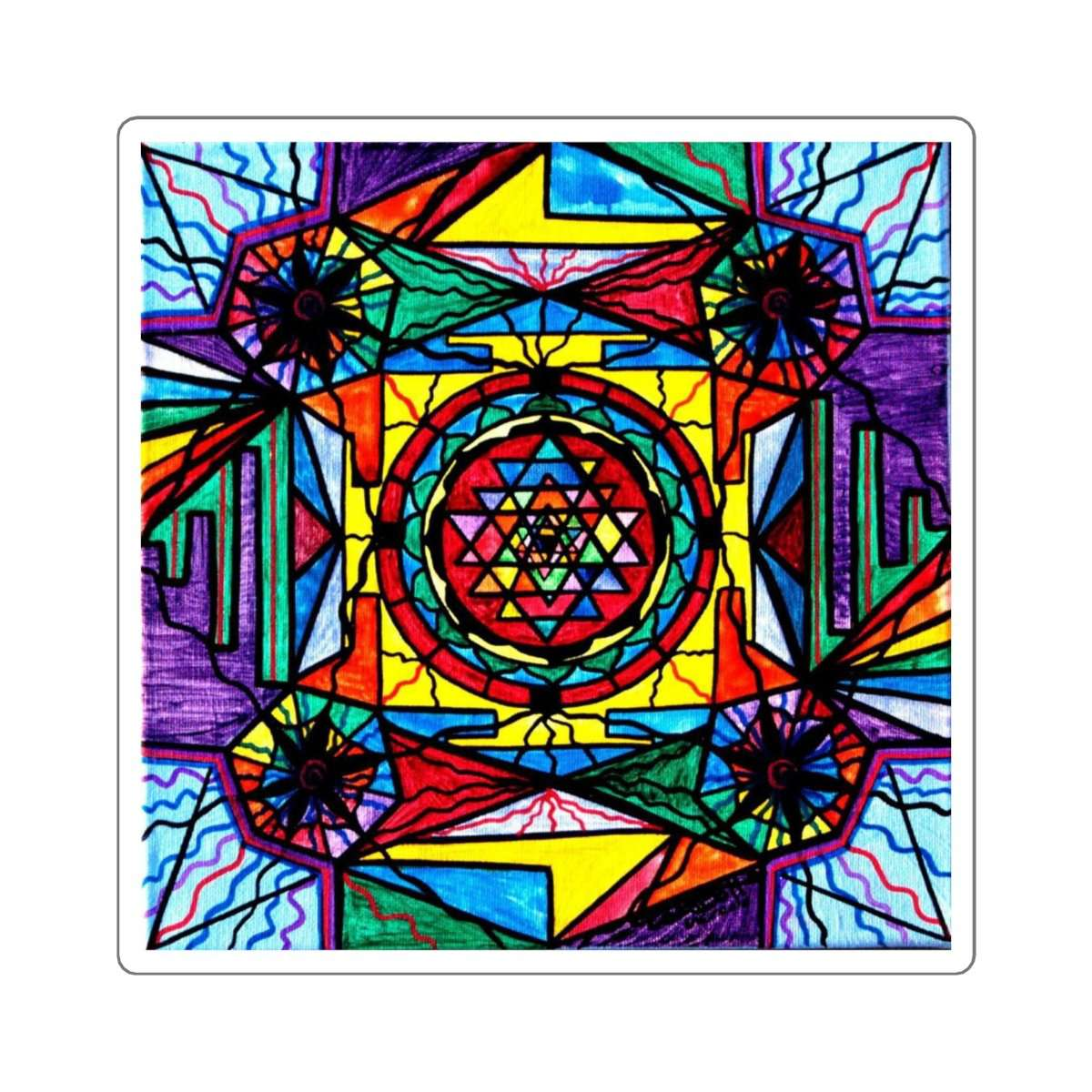Sri Yantra - Square Stickers
