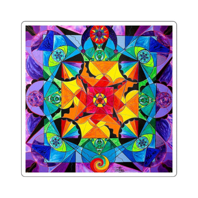 The Way - Arcturian Blue Ray Grid - Square Stickers