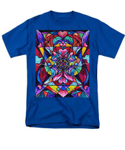 Load image into Gallery viewer, Blue Ray Self Love Grid - Men's T-Shirt  (Regular Fit)