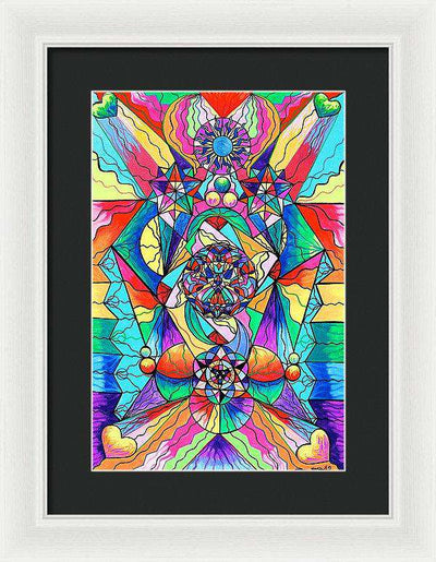 Blue Ray Transcendence Grid - Framed Print