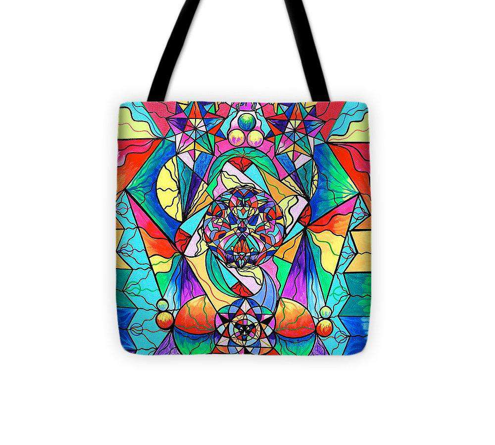 Blue Ray Transcendence Grid - Tote Bag
