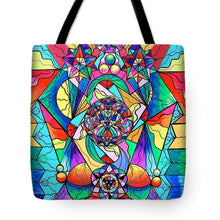 Load image into Gallery viewer, Blue Ray Transcendence Grid - Tote Bag