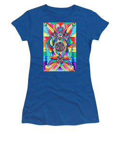 Blue Ray Transcendence Grid - Women's T-Shirt