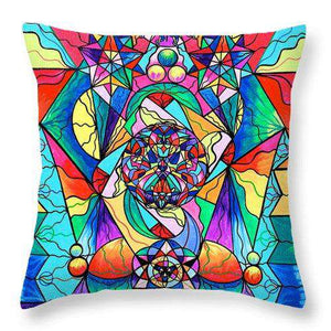 Blue Ray Transcendence Grid - Throw Pillow