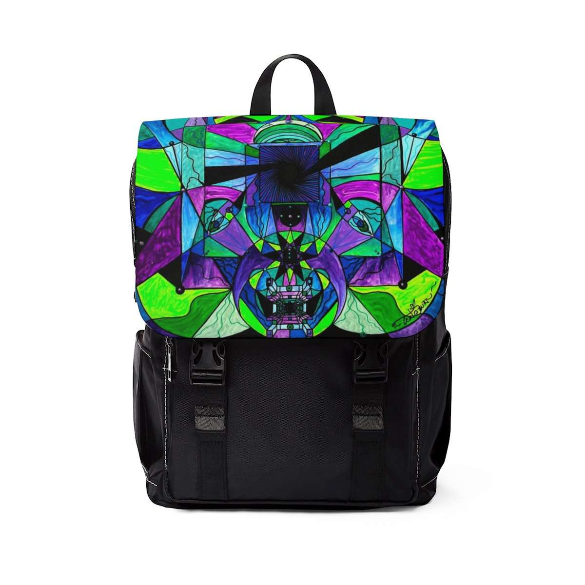 Arcturian Astral Travel Grid - Unisex Casual Shoulder Backpack