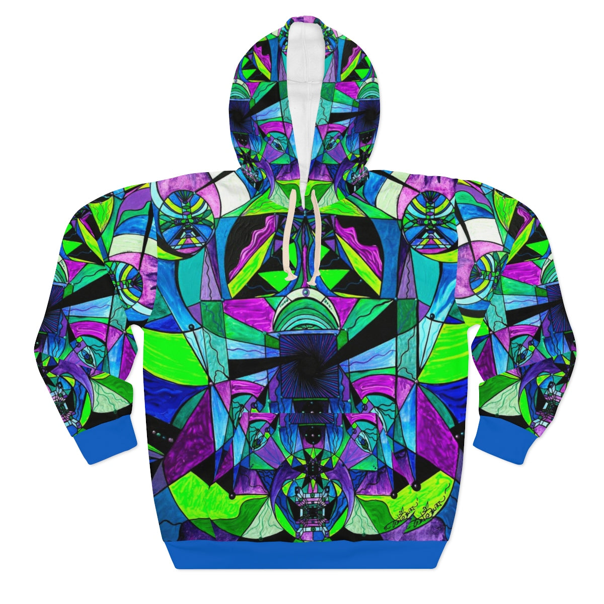 Arcturian Astral Travel Grid - AOP Unisex Pullover Hoodie