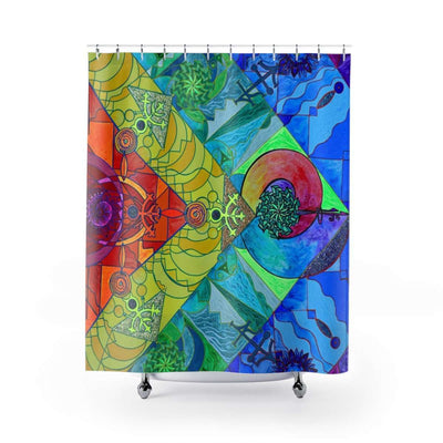 Expansion Pleiadian Lightwork Model - Shower Curtains