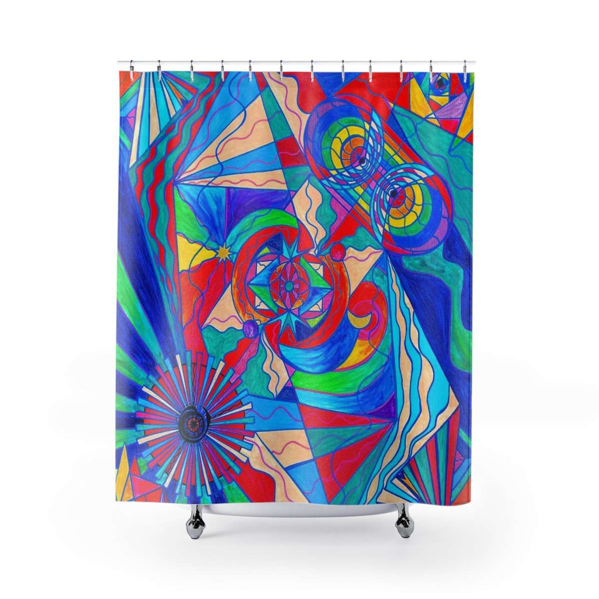 Pleiadian Restore Harmony Lightwork Model - Shower Curtains