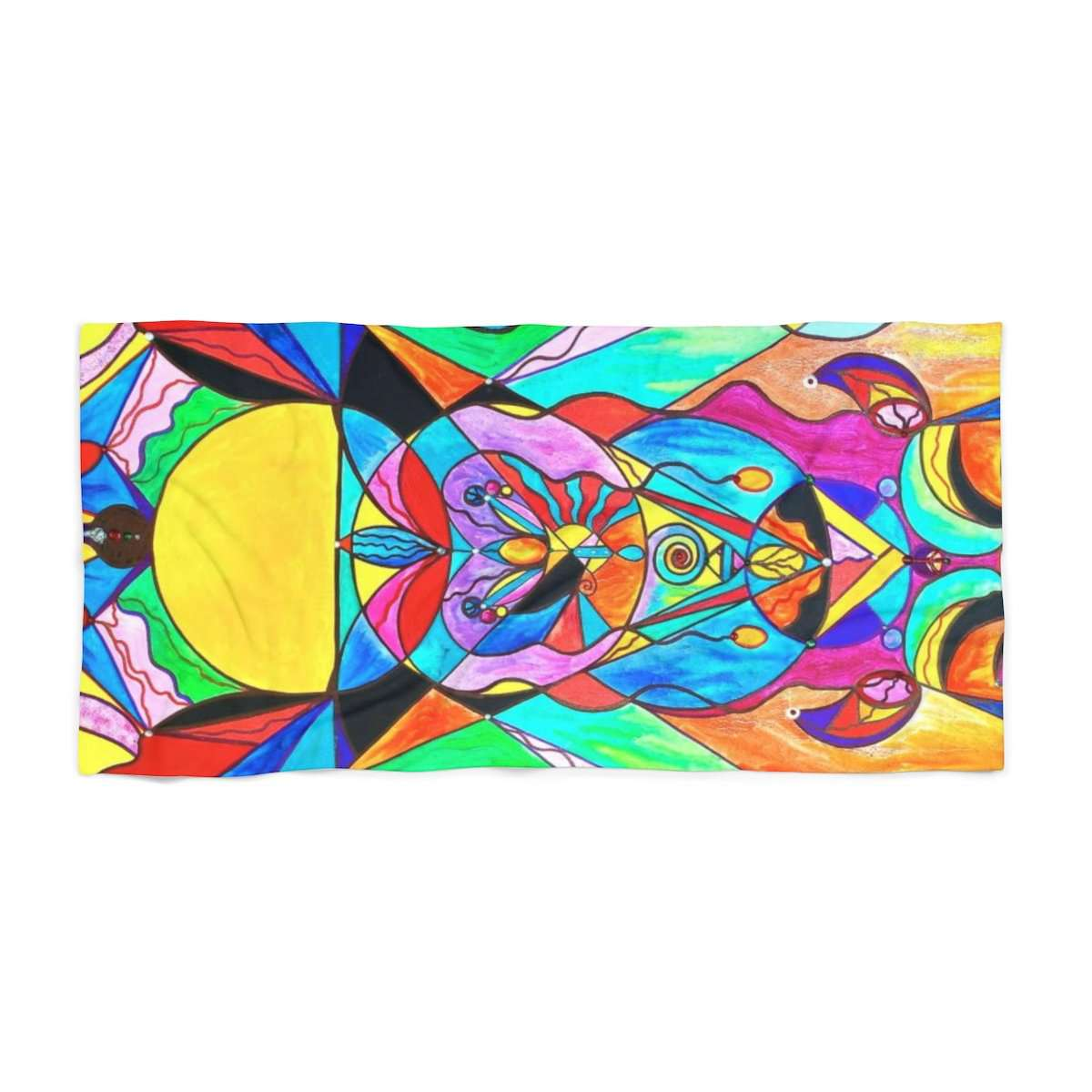Arcturian Metamorphosis Grid - Beach Towel