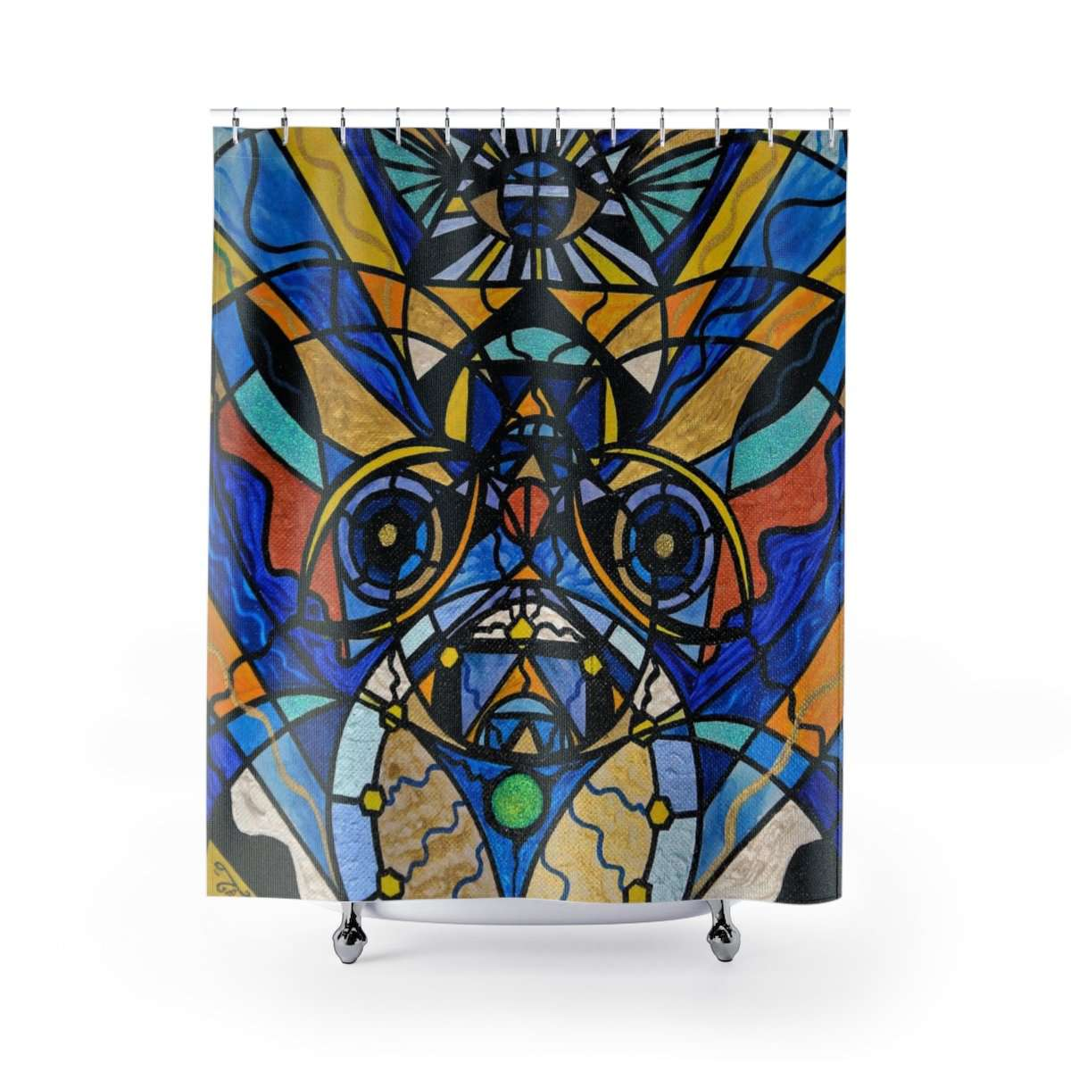 Sirian Solar Invocation Seal - Shower Curtains