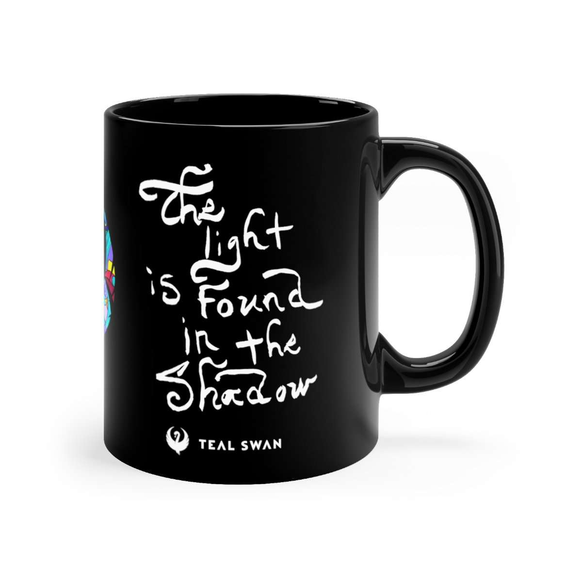 The Light Quote - Black mug 11oz
