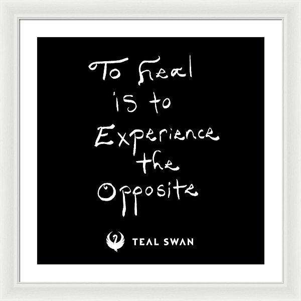 Definition Of Heal Quote - Framed Print